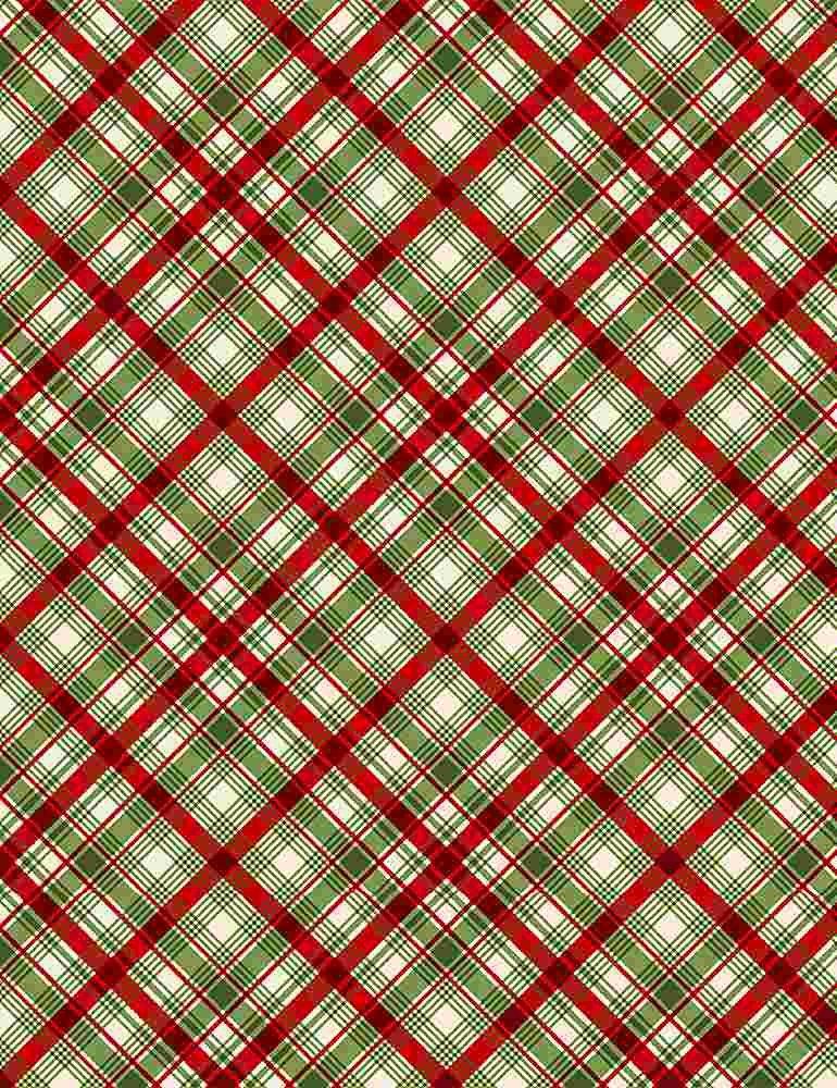 Christmas Diagonal Plaid 8661 Multi