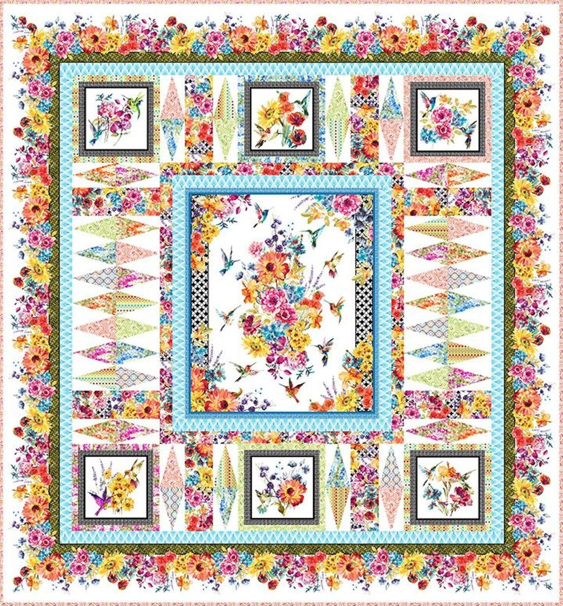 Hummingbird Lane Quilt Kit with Pattern