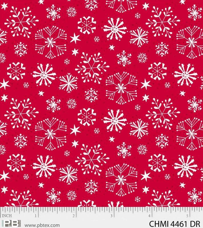 Xmas Minis Home 4461 Dk Red