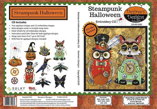 Steampunk Halloween Emb CD 3884A