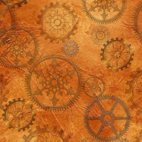 Steampunk Halloween Gears 27772 O Orange