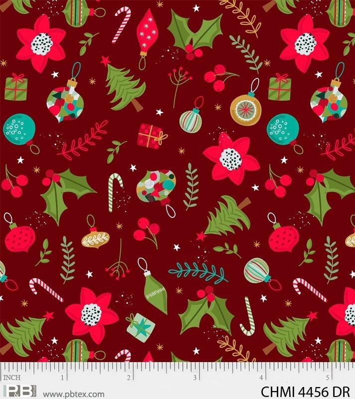 Xmas Minis Wonderful 4456 Dk Red