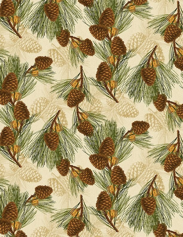 Festive Forest Pine Cones 68477 127 Tan