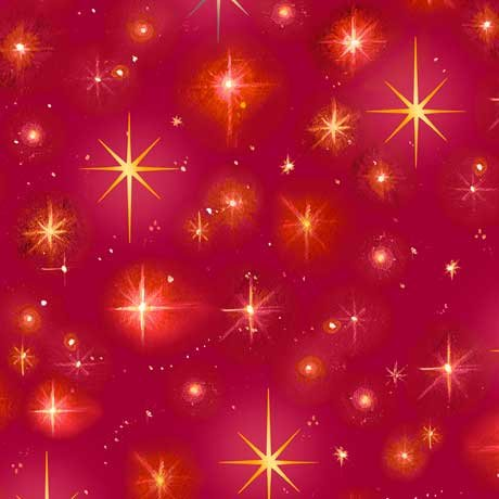 Christ is Born Stars 27835 Red