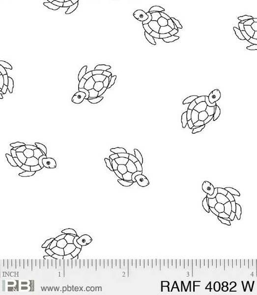 BASIC Ramblings F4082 Turtles White