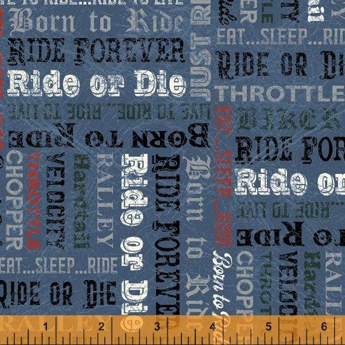 Born to Ride - Bike Words 53354 4 Denim