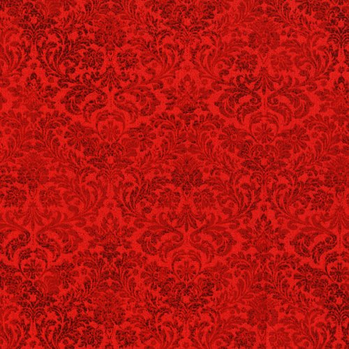 Shiny Holiday Twinkle 3163-002 Dazzling Damask Radiant Ruby