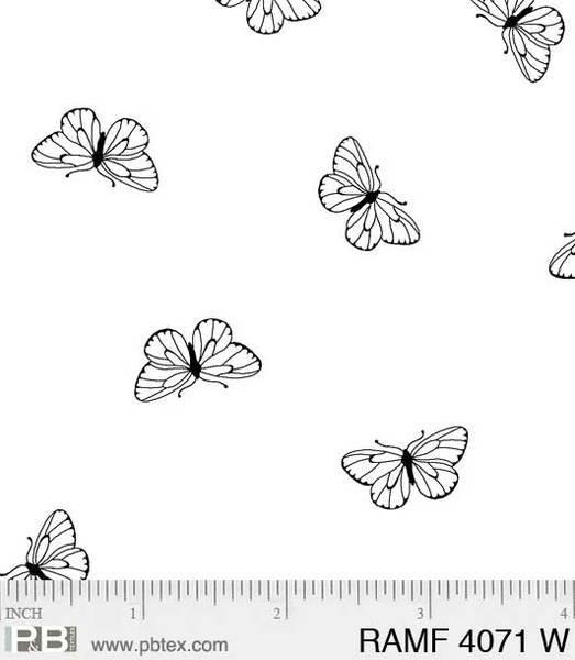 BASIC Ramblings F4071 Butterflies White