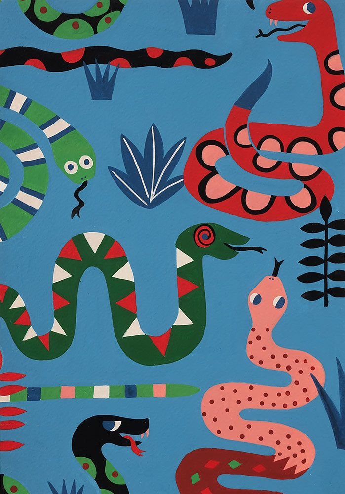 Snake Rattle & Roll 8865C Blue