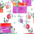 Purrfect Christmas Y2714-1 Kitten Gifts White