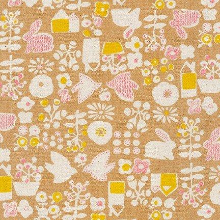 Cotton Flax Prints SB-850254D3-1 TAN