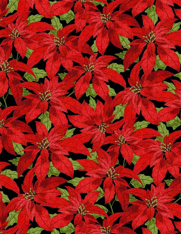 Festive Forest Poinsettia 68476 937 Black