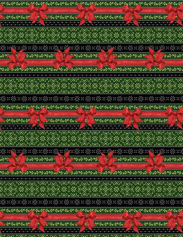 Festive Forest Ticking Strips 68479 739 Green