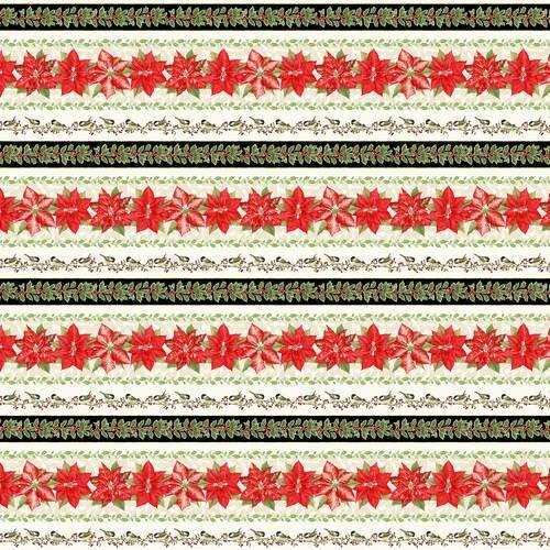 Holiday Botanical 9558 Border Strips Cream