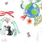 Purrfect Christmas Y2713-1 Toile White