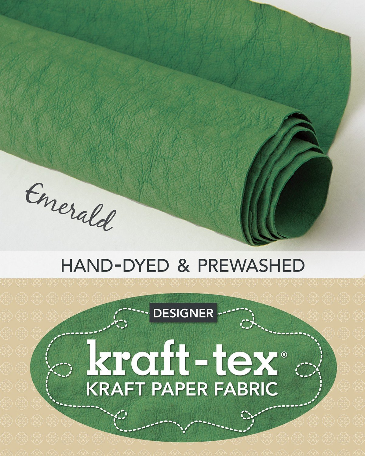 Kraft-tex Roll Emerald Hand-Dyed & Prewashed