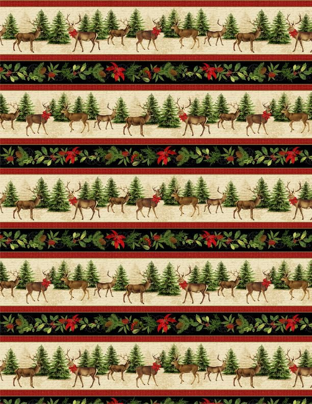 Festive Forest Repeating Stripe 68473 297 Multi