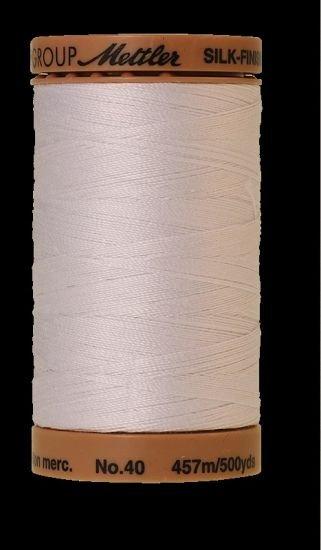 Mettler 9135-2000 White 40wt Cotton Thread