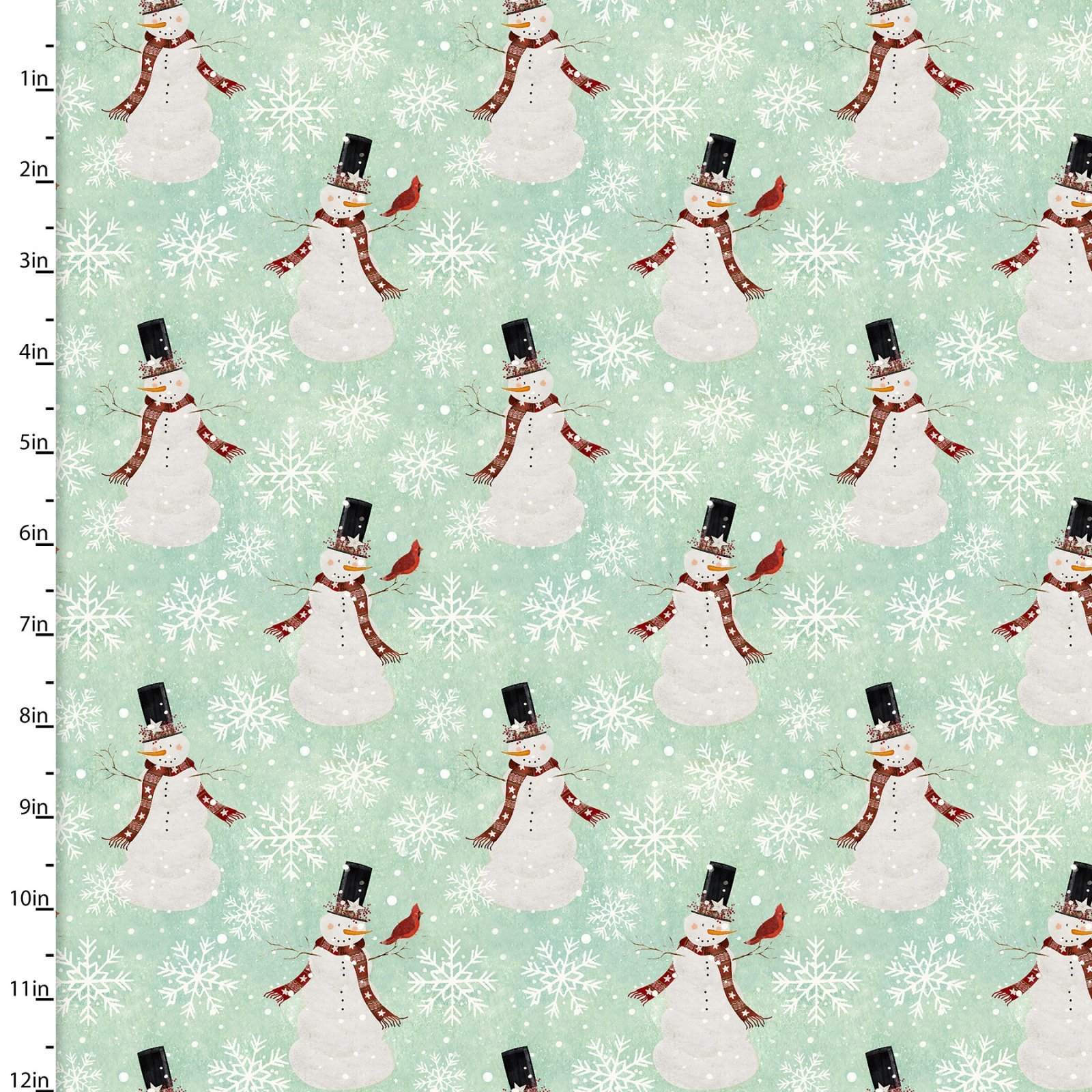 HOME HOLIDAY 18103 Snowman Turquoise