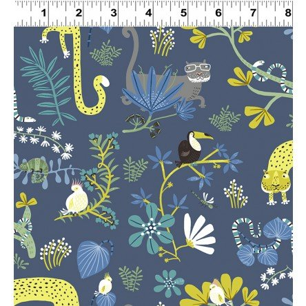Jungle Jive 3111 89 Animal Play Dk Denim