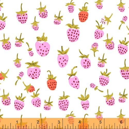 Heather Ross 37024A 2 Lilac Strawberry
