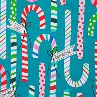 Candy Canes 8751A Teal