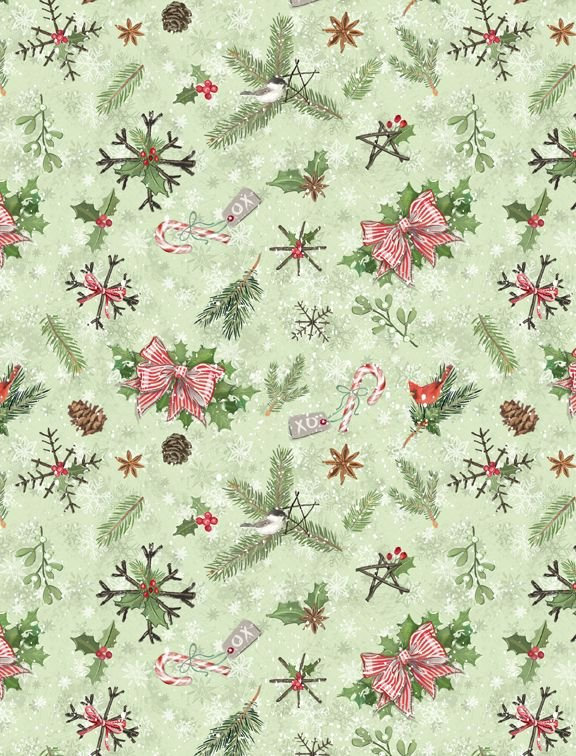 Woodland Friends 96448 772 Pinecones and Branches Green