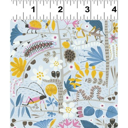 Jungle Jive 3113 5 Insects Lt Gray
