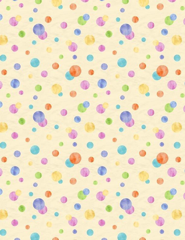Raindrops & Sunshine 68553-565 Circles Yellow