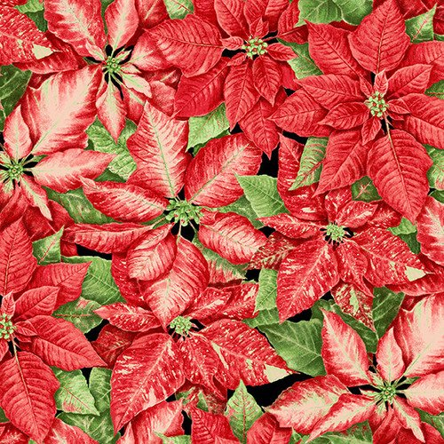 Holiday Botanical 9550 Packed Poinsettias Red
