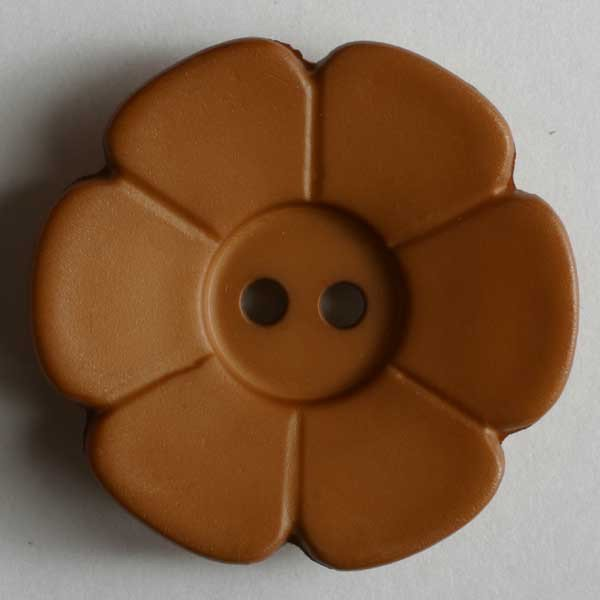 Brown Flower Fashion Buttons 28mm