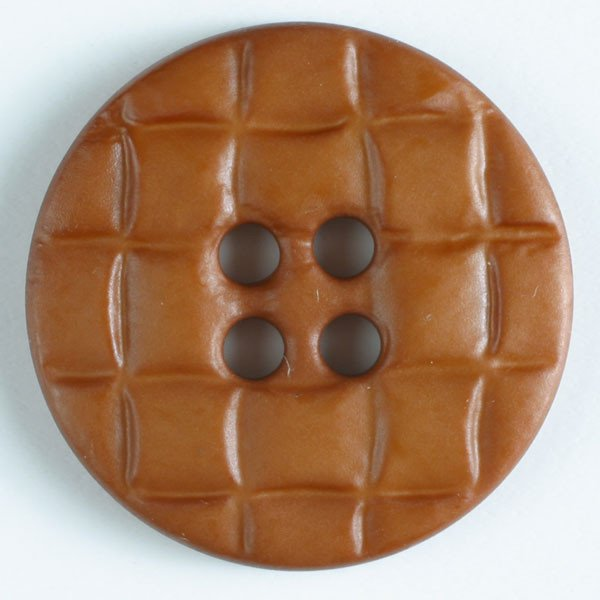 Brown Quilted 4-Hole Fashion Buttons 30mm