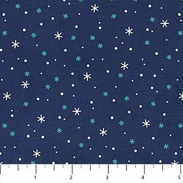 Stars and Snowflakes Navy