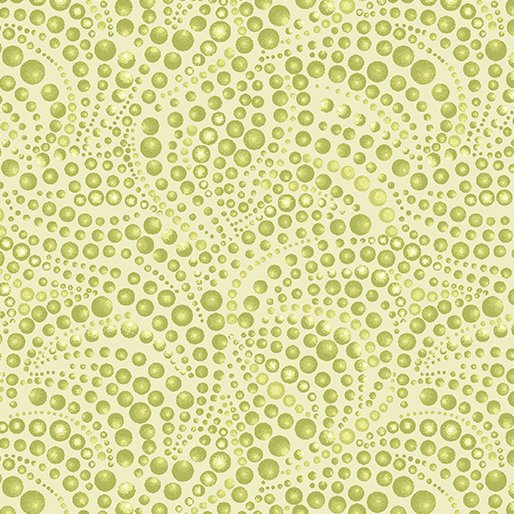 Beaded Swirls Tonal Lt. Green Cat-i-tude