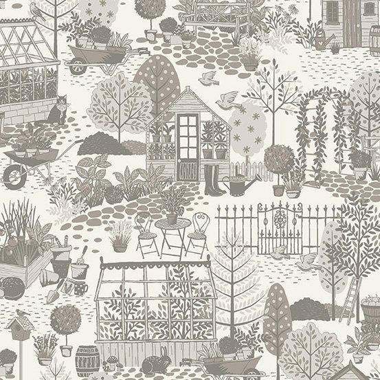 Garden Scene  Grey