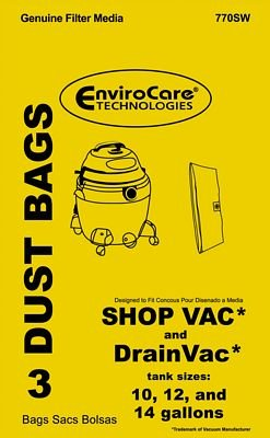 Bags Shop Vac 101214 Gal - Repl.