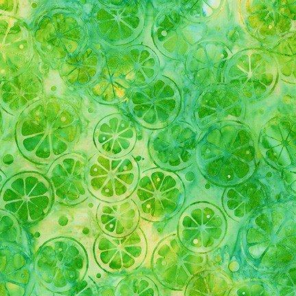 Lime Slices Summer Zest Batik