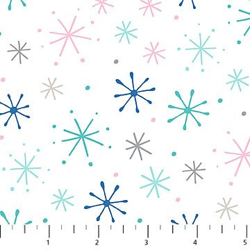 Large Snowflakes on White Flannel