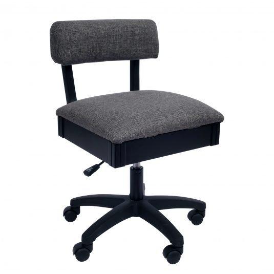Lady Gray-Hydraulic Sewing Chair, Arrow