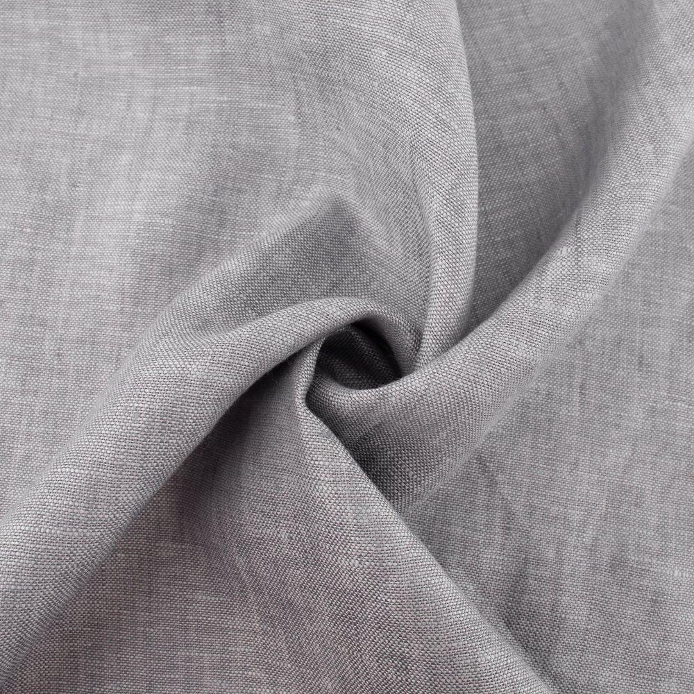 Organic Yarn Dyed Linen, Thistle, Birch Fabrics
