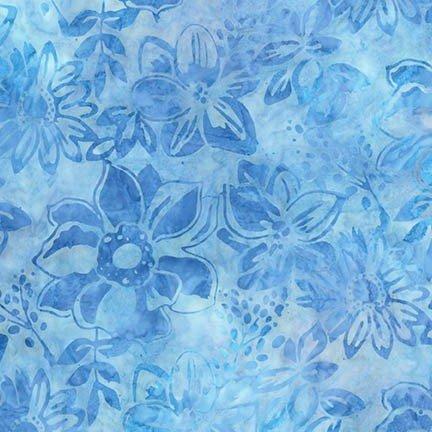 Gazebo Lg Floral Cornflower Batik