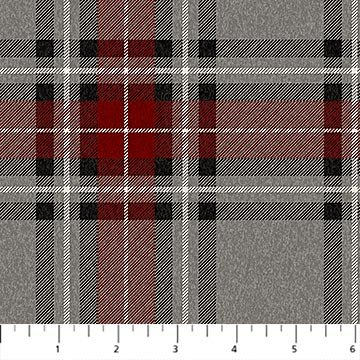 WEST CREEK - Lennox,  Gray, Red Flannel