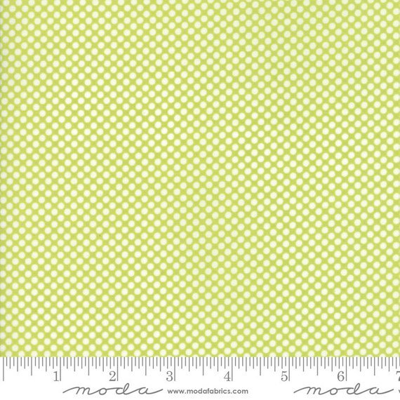 Bonnie and Camille Vintage Holiday Light Green Dots