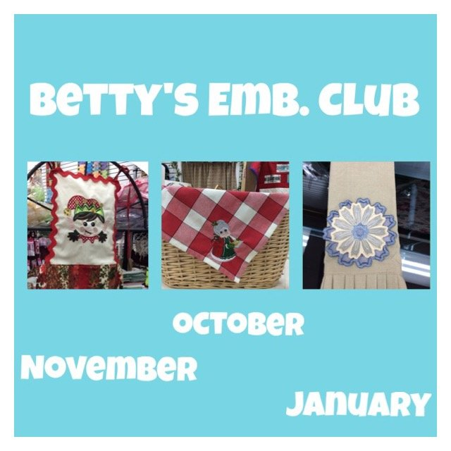 Bettys Embroidery Express January