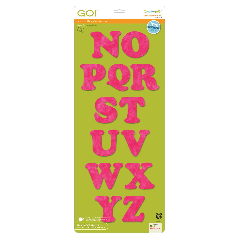AccuQuilt GO! Carefree Alphabet Set (2-die set)