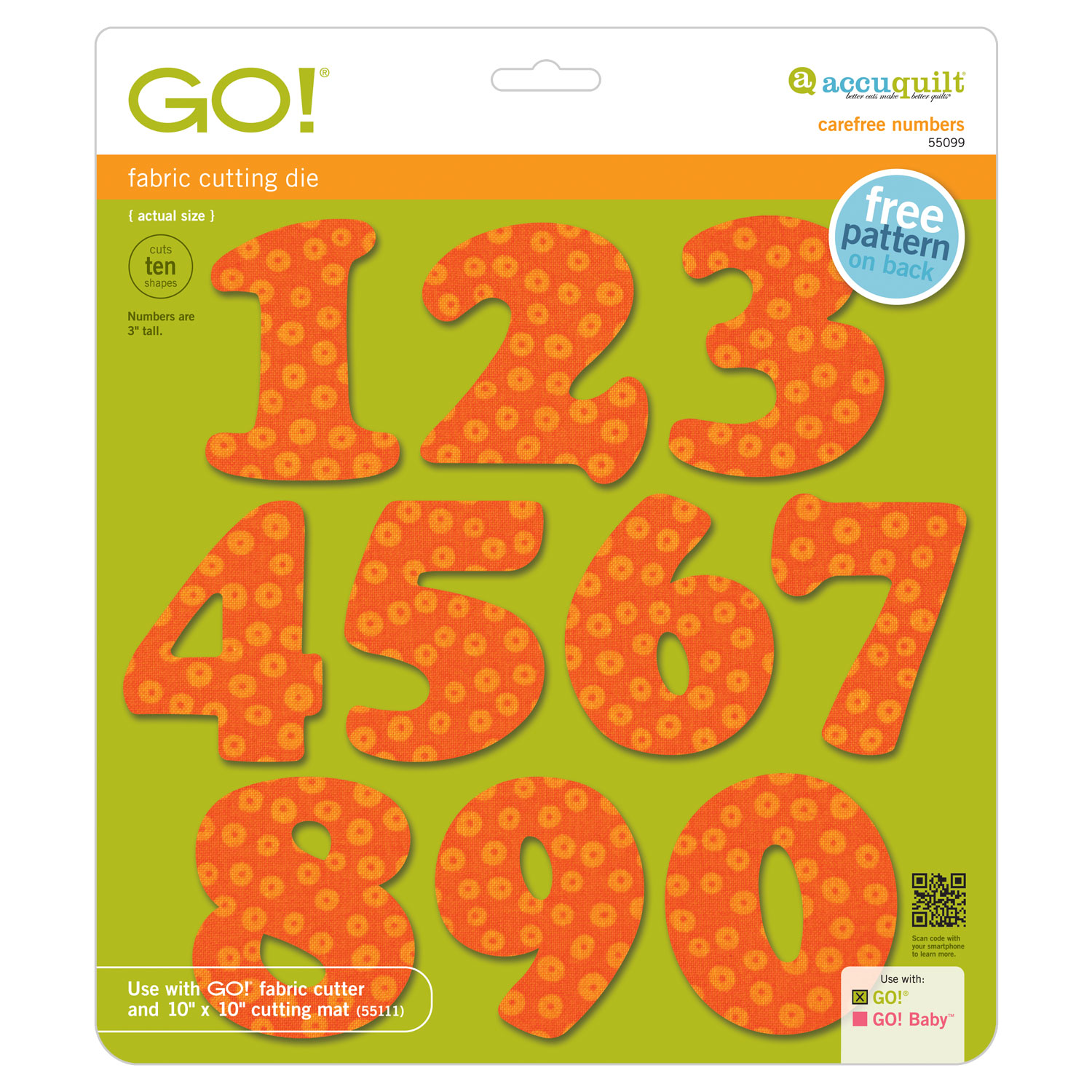 AccuQuilt GO! Carefree 3 Numbers