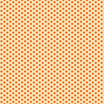 Q9567-43 Wild and Free Orange Small Set Dots
