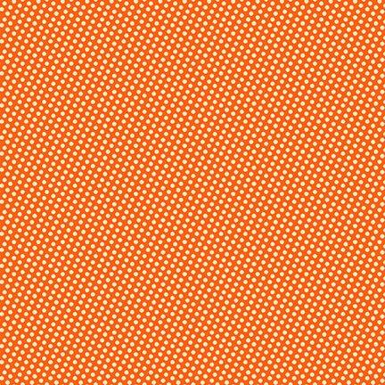 Q9568-34 Wild and Free Orange Mini Dots