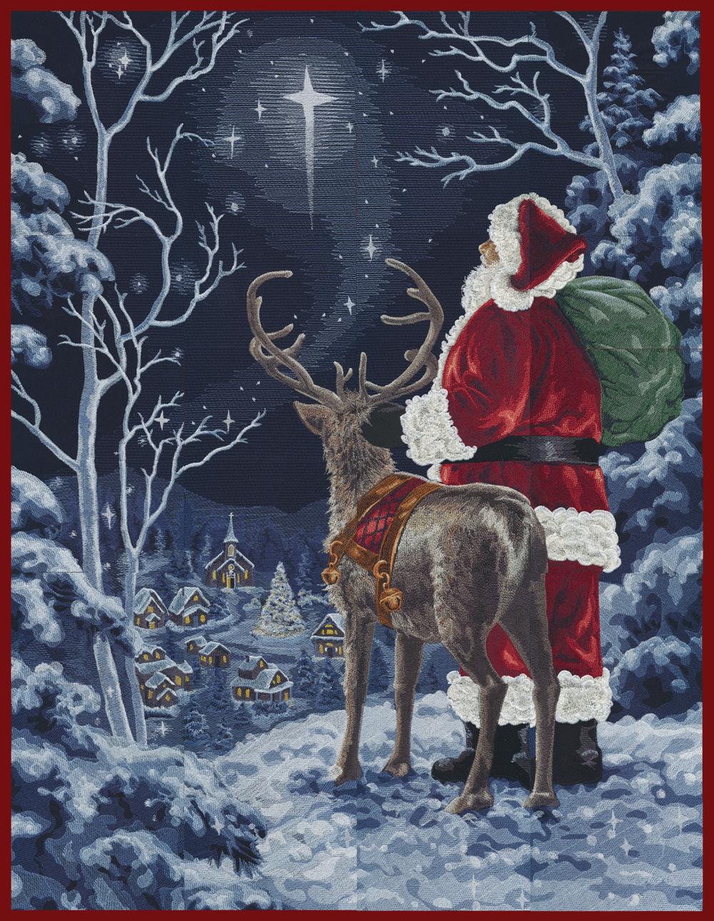 OESD Starry Night Santa Tiling Scene (USB)