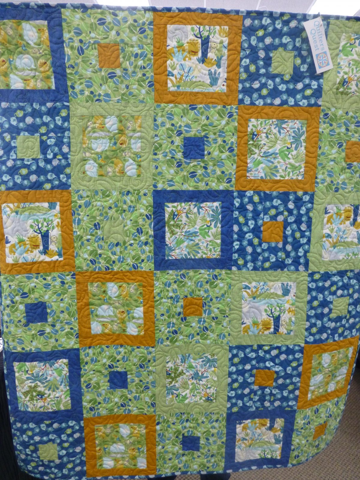 Big and Little Quilt Sample 37 x 45